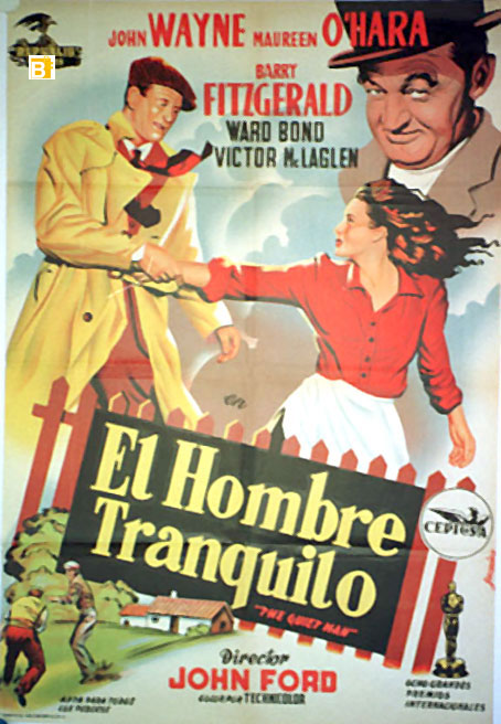 John Wayne foreign movie poster for The Quiet Man