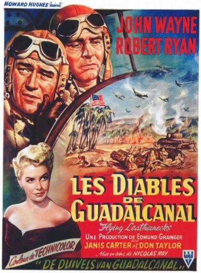 John Wayne foreign movie poster Flying Leathernecks