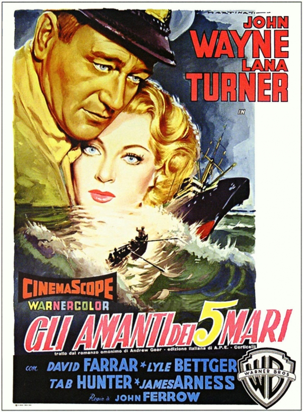 John Wayne foreign movie poster for The Sea Chase