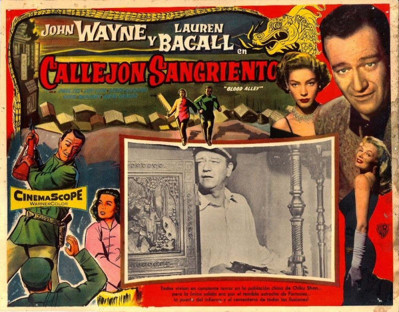 John Wayne foreign movie poster for Blood Alley