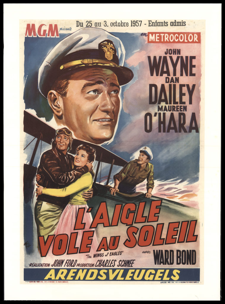 John Wayne foreign movie poster The Wings of Eagles