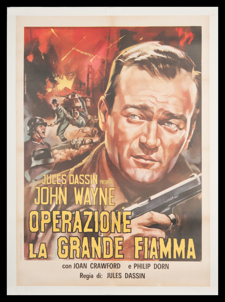 John Wayne foreign movie poster Reunion in France