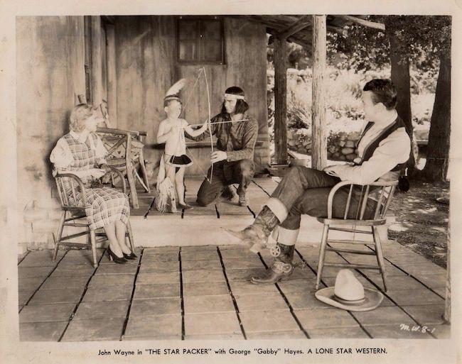 John Wayne in Star Packer Lobby card