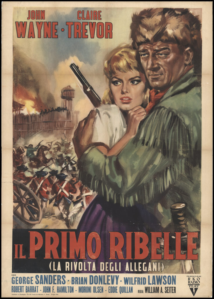 Allegheny Uprising with John Wayne Italian poster