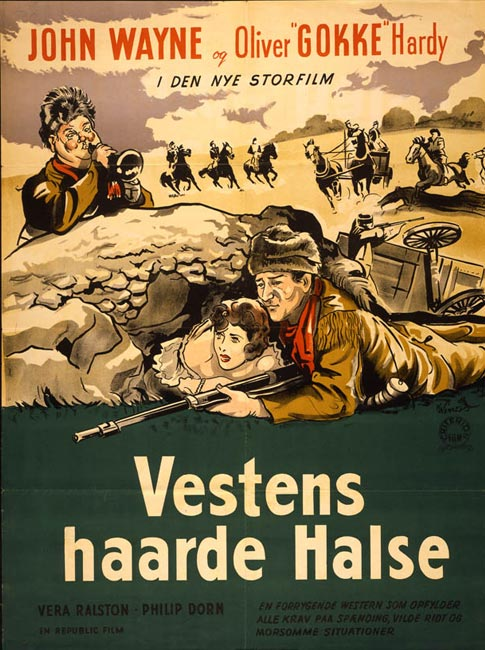 The Fighting Kentuckian with John Wayne bu the Norwegian poster Vestens Harde Halse