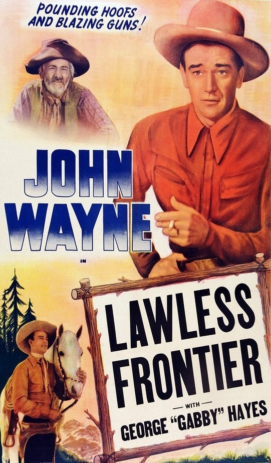 John Wayne and Gabby Hayes in The Lawless Frontier