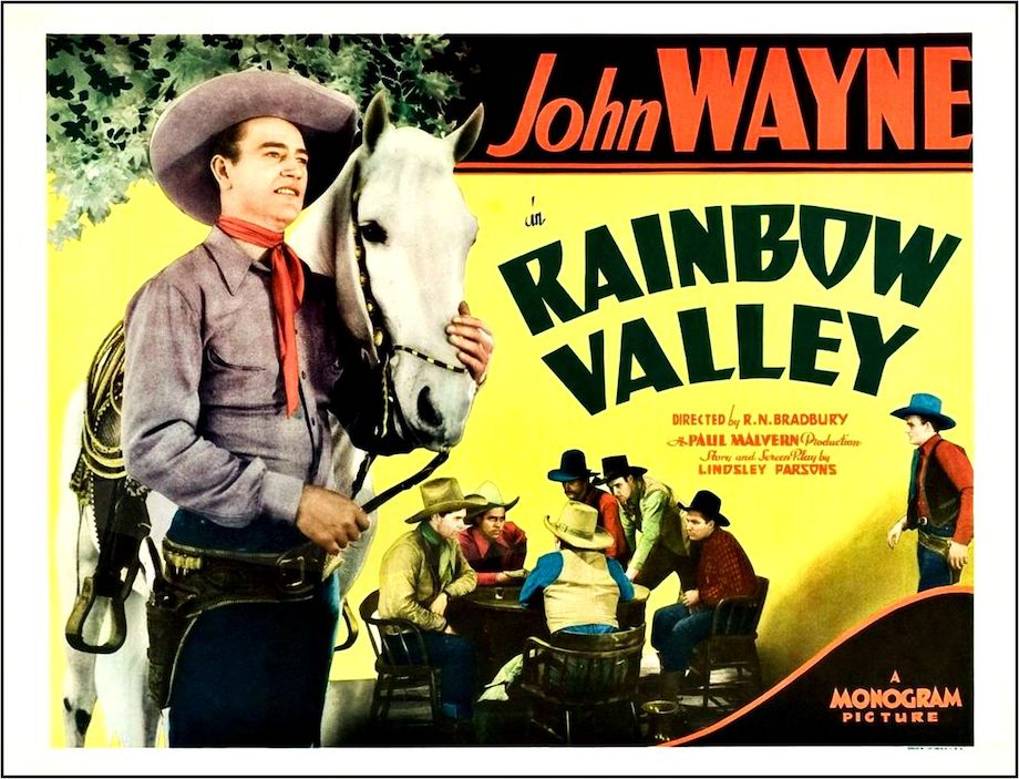 John Wayne in Rainbow Valley lobby card