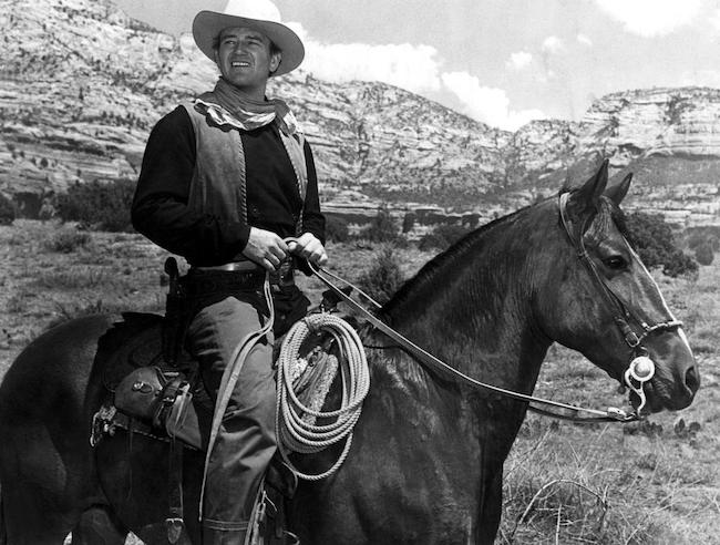 John Wayne on his horse Beau in ANGEL AND THE BADMAN