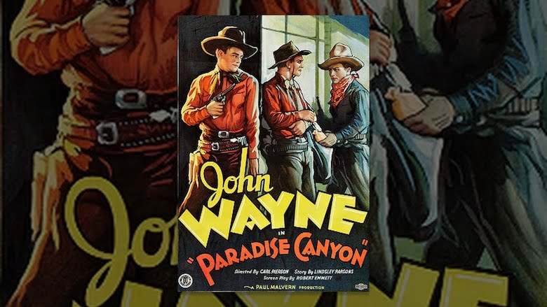 John Wayne in Paradise Canyon poster