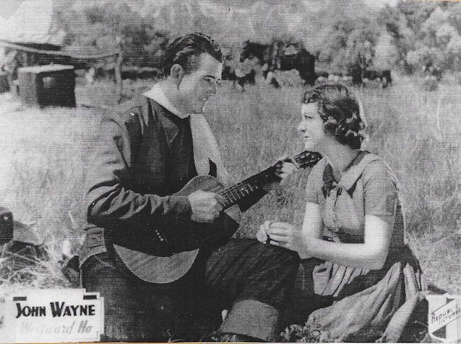 JOhn Wayne singing in Westward Ho