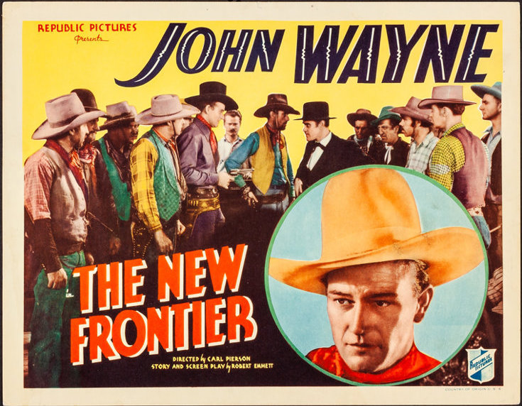 John Wayne 1930s western The New Frontier lobby card