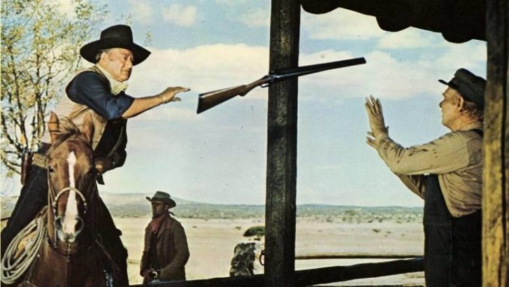 Cahill US Marshal Movie poster with John Wayne