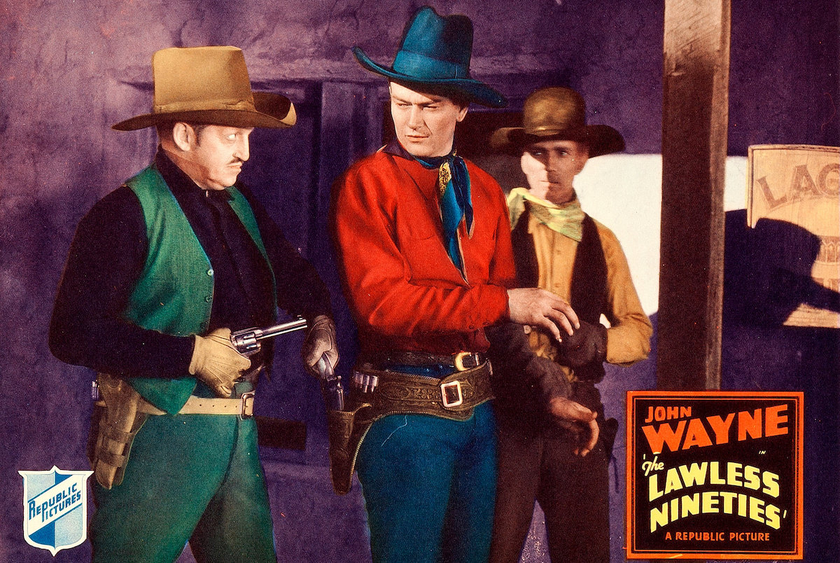 John Wayne in The Lawless Nineties - a lobby card