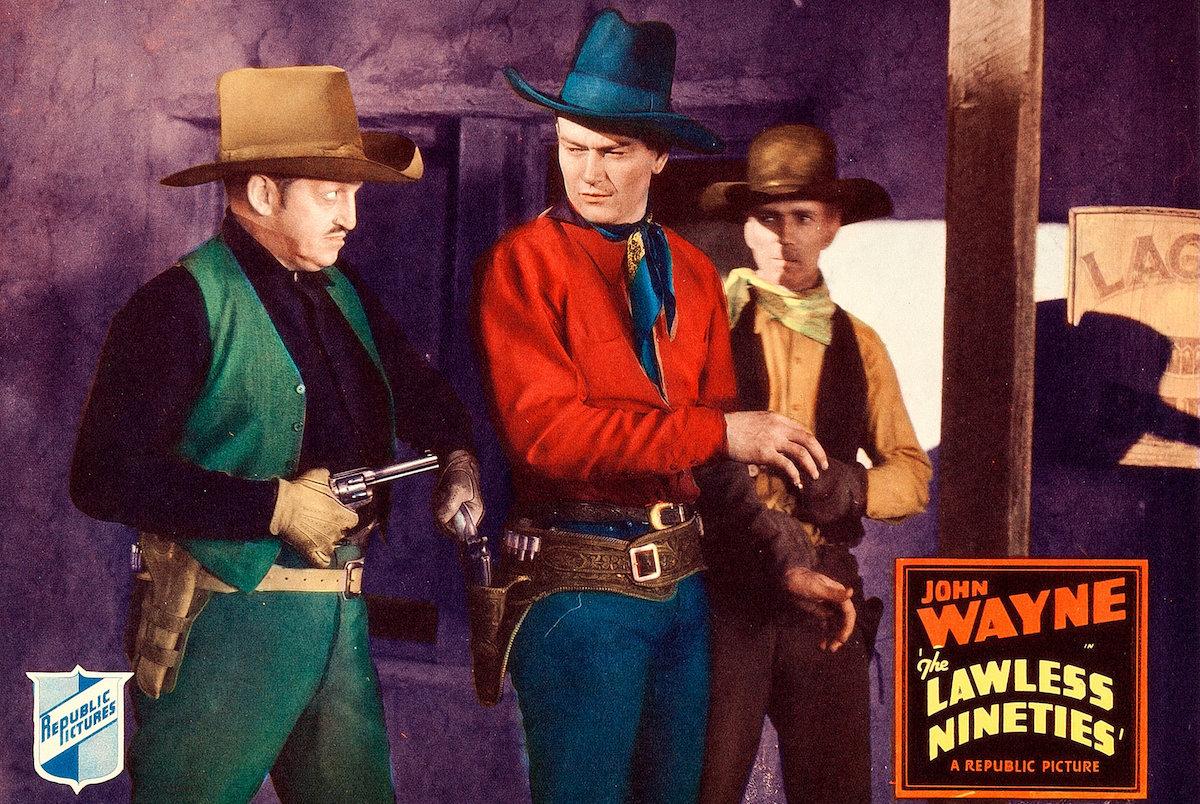 John Wayne in The Lawless Nineties - a lobby card