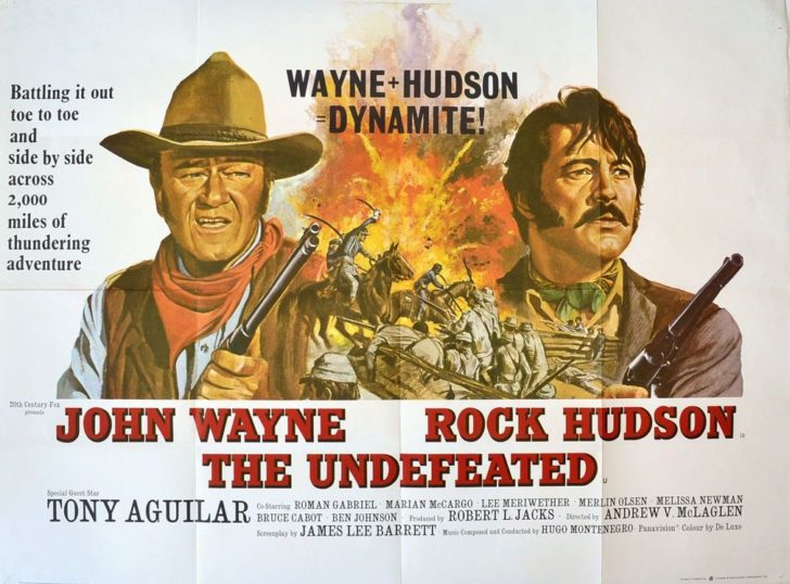 John Wayne & Rock Hudson in the Undefeated movie poster