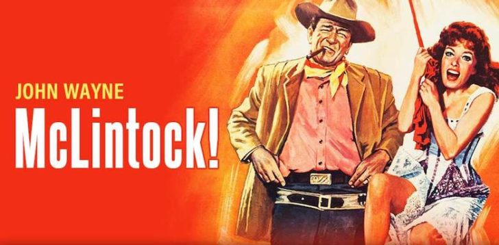 McLintock movie poster John Wayne