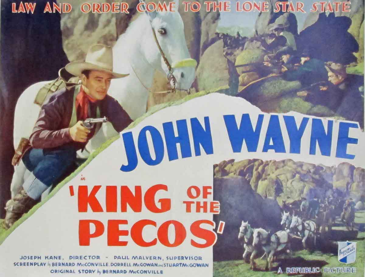John Wayne western movie King of the Pecos 1936 lobby card