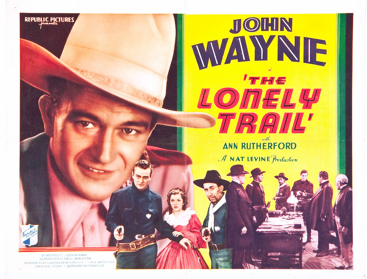 John Wayne The Lonely Trail lobby card