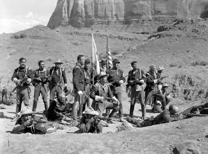 Scene from Fort Apache with John Wayne