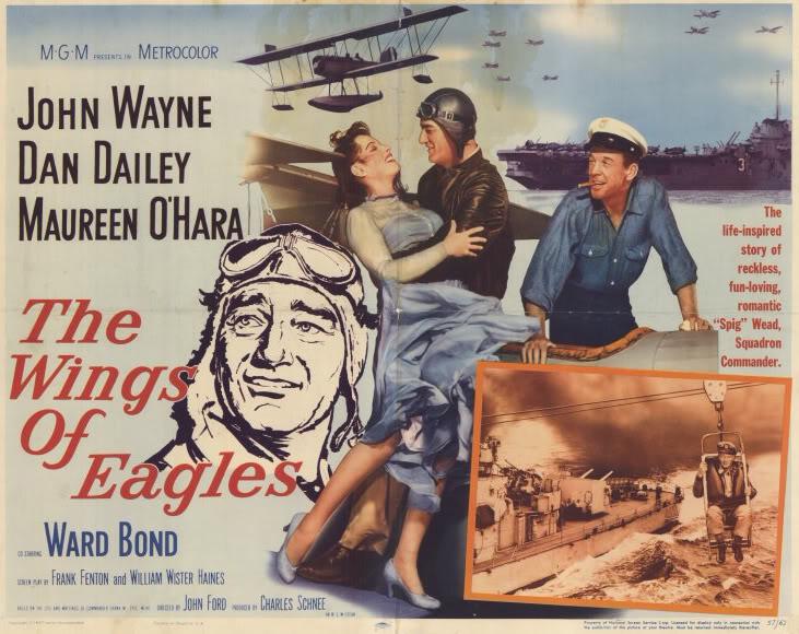 John Wayne in Wings of Eagles