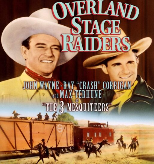 Movie poster for Overland Stage Raiders film with John Wayne