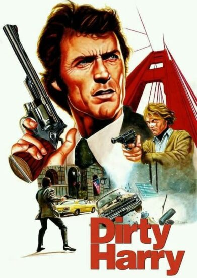 Dirty Harry movie poster with Clint Eastwood