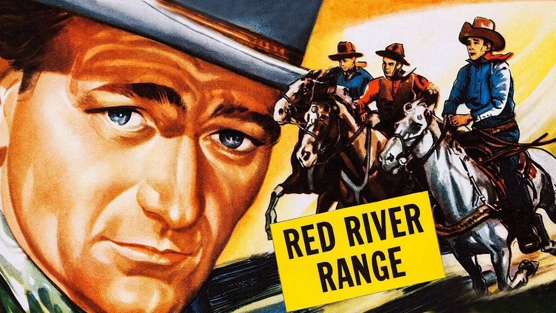 Poster of John Wayne in Red River Range movie