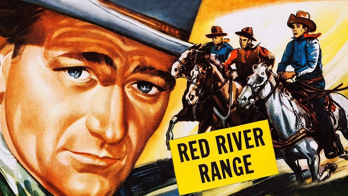 Poster of John Wayne in Red River Range movie