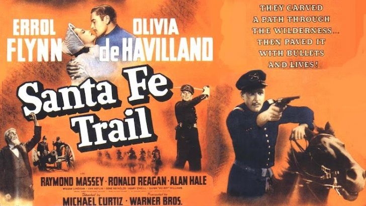Movie poster for The Santa Fe Trail