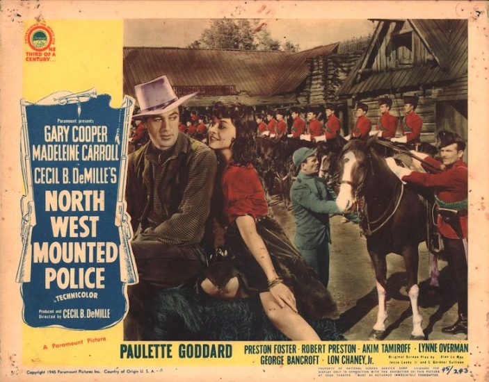 Movie poster for North West Mounted Police