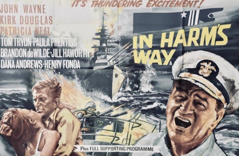 Poster for In Harms Way starring John Wayne & Kirk Douglas