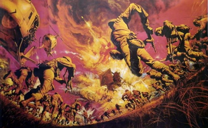 poster of the green berets with JOhn Wayne