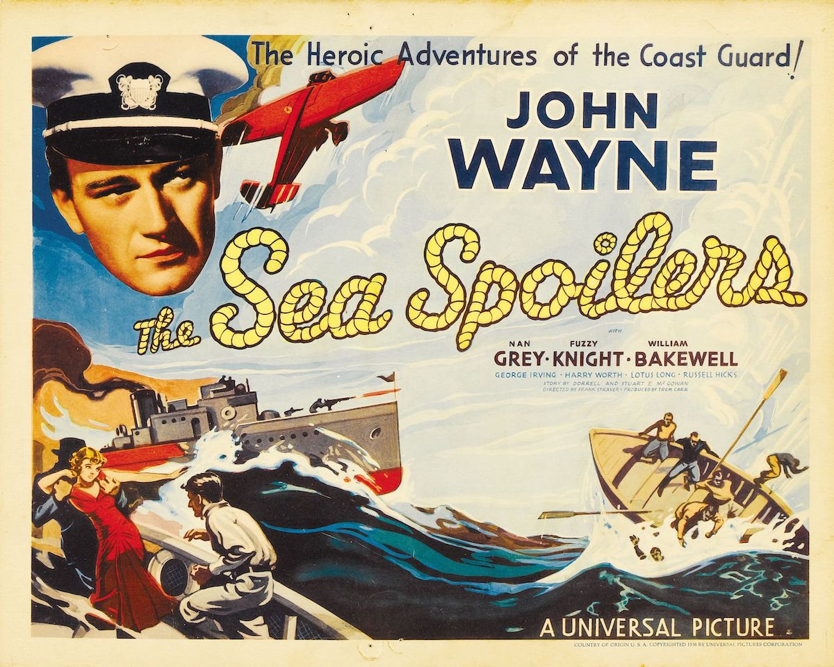 Movie poster for Sea Spoilers with JOhn Wayne