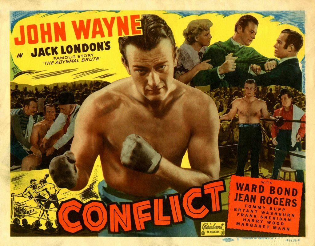Conflict 1936 movie lobby card with John Wayne