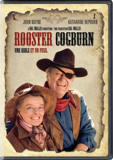 John Wayne & Katherine Hepburn in Rooster Coburn - a cover of the blue ray