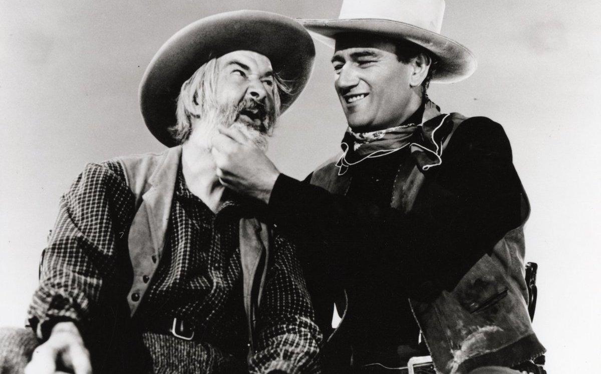 Gabby Hayes and John Wayne