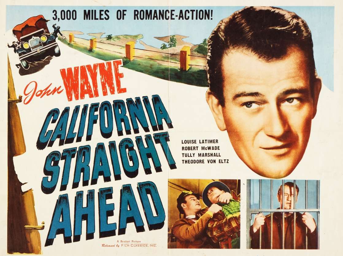 california straight ahead poster